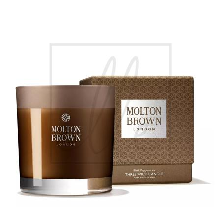 Molton brown london 3-wick candle, size one size - brown