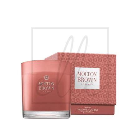 Molton brown gingerlily three wick candle  free p&p