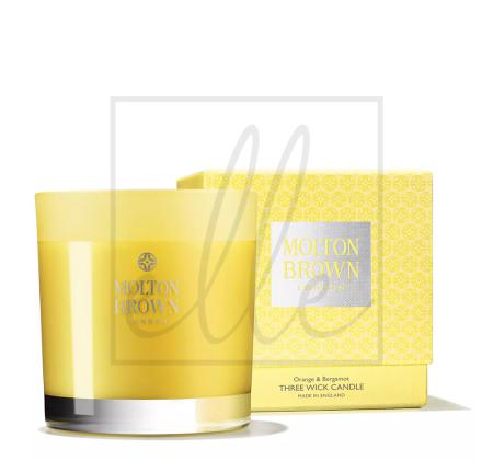 Molton brown london 3-wick candle, size one size - yellow