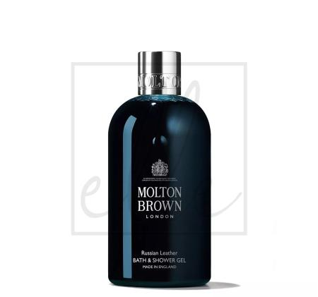Molton brown russian leather bath & shower gel - 300ml