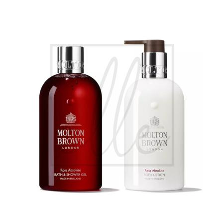 Molton brown rosa absolute gift set - 2 x 300ml