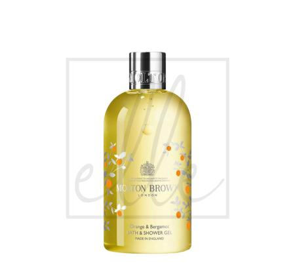Molton brown orange & bergamot shower gel limited edition - 300ml