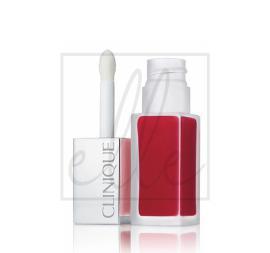 Clinique pop liquid matte lip color + primer - #02 flame pop
