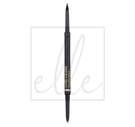 Double wear stay-in-place brow lift duo - 01 black brown 99999