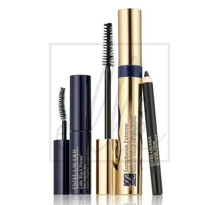 Sumptuous extreme mascara, primer & doublewear eye pencil set 99999