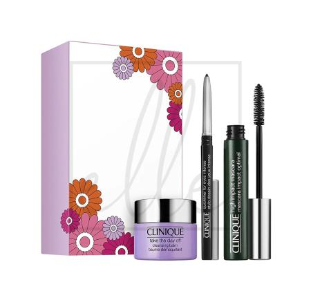 Clinique high impact favourites kit (high impact mascara + take the day off cleansing balm - 15ml + quickliner for eyes intense)
