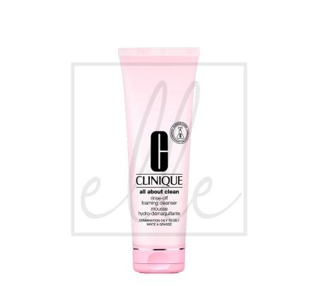 Clinique all about clean rinse-off foaming cleanser - 250ml