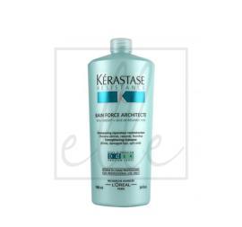 Kerastase resistance bain force architecte strengthening shampoo (for brittle damaged hair) - 1000ml