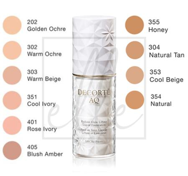 Cosme decorte aq base makeup radiant glow lifting liquid foundation - 304 natural tan