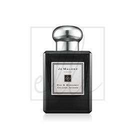 Jo malone oud & bergamot cologne intense spray (originally without box) - 50ml