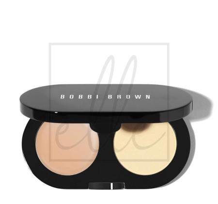 Creamy concealer kit warm ivory / yellow powder