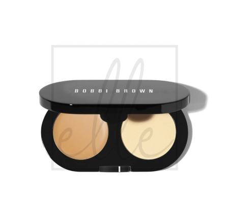 Creamy concealer kit natural / yellow powder