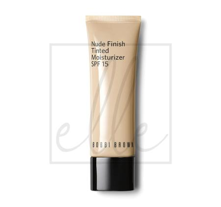 Nude finish tinted moisturzier light to medium tint