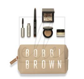 Bobbi brown radiant glow set (cream shadow stick - 1.6g + highlighting powder pink glow - 4g + smokey eye mascara - 3ml + bronzing powder - 2.5g + vitamin enriched face base - 7ml)