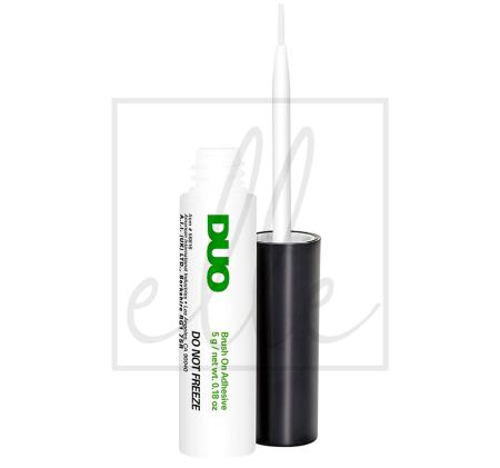 Duo brush on striplash adhesive - white clear