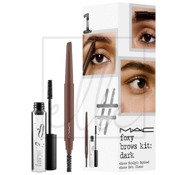 Instant artistry / foxy brows kit - dark