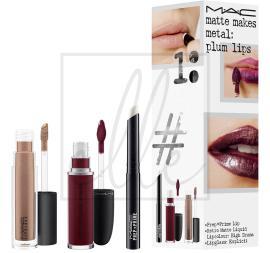 Instant artistry / matte makes metal: plum lips
