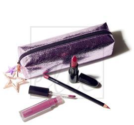 Starlit lip bag - plum