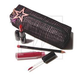 Starlit lip bag - red